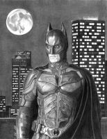 Christian Bale as Batman by khinson