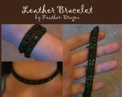 Leather Bracelet by Feather-Dragon