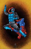 .....Kamen Rider Vs. Spider-man..... by thelearningcurv