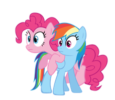 Rainbow dash and Pinkie pie vector by keeveew