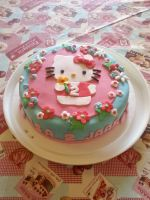 Hello kitty Birthday cake by NRfun
