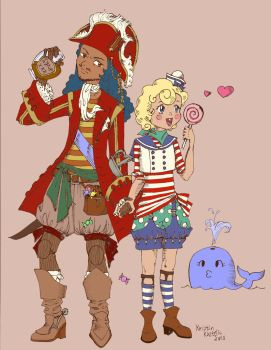 Flapjack and Captain K'nuckles by louis-etoile