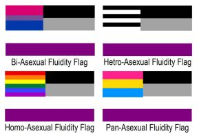 Asexuality Fluidity Flags by PerfectlyDarkTails