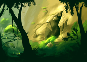 Jungle Cave by LovelyLimeyLemons
