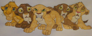 A Band of Cubs -Colored- by Child-Of-Hades
