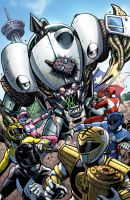 Mighty Morphin Power Rangers Alamo City cover by KaijuSamurai