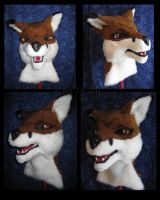 Red Fox Mask by VenturertheHybrid