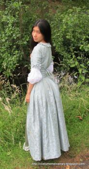 Blue Damask Gown by costumemercenary