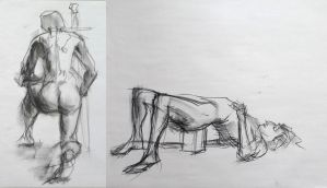 Life drawing- March 2016 by Gizmoatwork