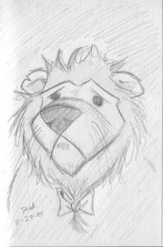 The Cowardly Lion Sketch by RogueDerek