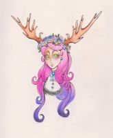 Flowers And Antlers by Thrayonlosa