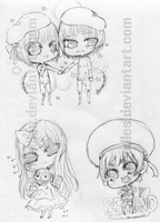 Hetalia: Country Chibis 2 by The-Noodles