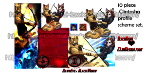 WolfAvengers Clintasha profile scheme for sale. by AgentWhiteHawk