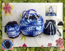 Black and Blue Bags Col. 3 by winter-fall