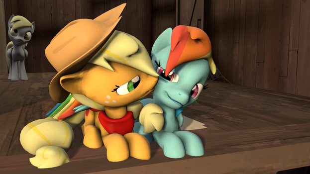 Appledash Kissing by Hellmille