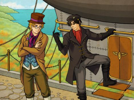 Steampunk Good Omens by Eldanis