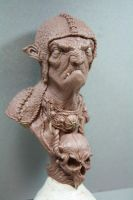 Troll bust 18 cm tall moster clay by giolord11