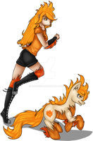 Request: Fiery Competition by Mossie55