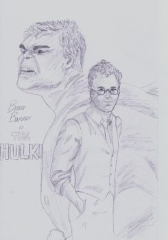 Bruce Banner is the Hulk by TheDullYellowEye
