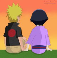 ::Naruhina:: Sunset by KIMKIM14
