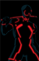 deadpool tron by anklesnsocks
