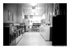 lonely laundromat... by leica