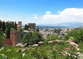 View From the Alhambra's Gardens by AgiVega