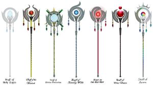 Multi Mage Staffs by Mistress-DarkLoki