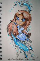 Chibi traditional Katara by JamilSC11