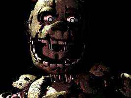 Springtrap removing his head (Gif and Theory) by KriztianMilanes