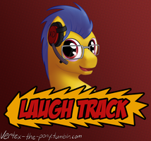 Laugh Track - Con Badge by Rhyrs