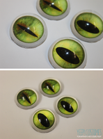 Custom acrylic eyes for Ms. Delicious by yeep-yeep