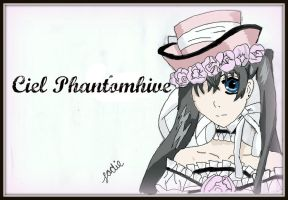 Ciel Phantomhive Coloured Edit by dawnleapord