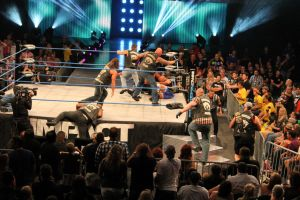 Aces and Eights Rush the Ring by KnightNephrite