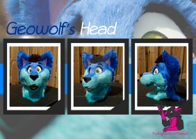 Geowolf's head by FurryFursuitMaker