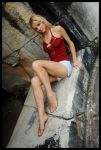 Samantha - red top 1 by wildplaces