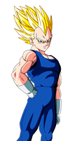 Vegeta SSJ2 Render by dbzandsm