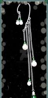 Emerald and Pearl Earcuff by LadyAriessTemptra