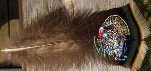Tom Turkey Feather Painting by SpikedPyro