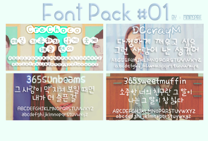 Font pack #1 by miniinspirit