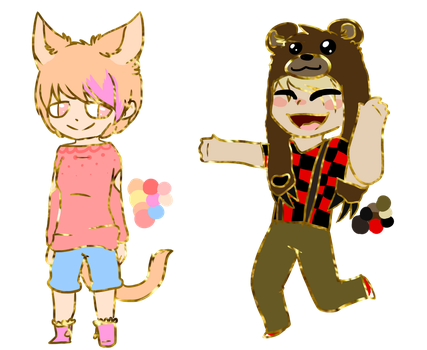 2 Small Adopts (OPEN) by KiwiFox-Adoptables