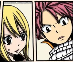 Fairy Tail [289] : Lucy and Natsu by FicchanNaLu