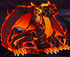 Magma Fire Dragon, Red Dragon Elemental by Dragoart