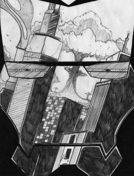 Iron Man American Nightmare Reflection Cvr Pencils by TopherSeal