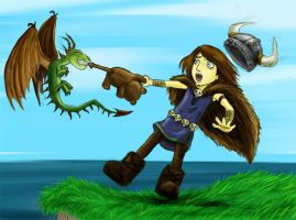 How Toki Trains his Dragon 2 by AndreaOfTheLand