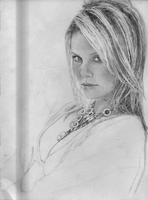 Charlize Theron WIP 6 by juicethehedgehog