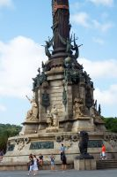 Columbus monument, Barcelona detail 2 by wildplaces