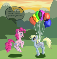 Pinkie's Balloons by CalicoGoldfish