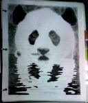 panda (carboncillo)  by hippieartista
