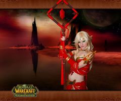 World of Warcraft - Blood elf by EnjiNight